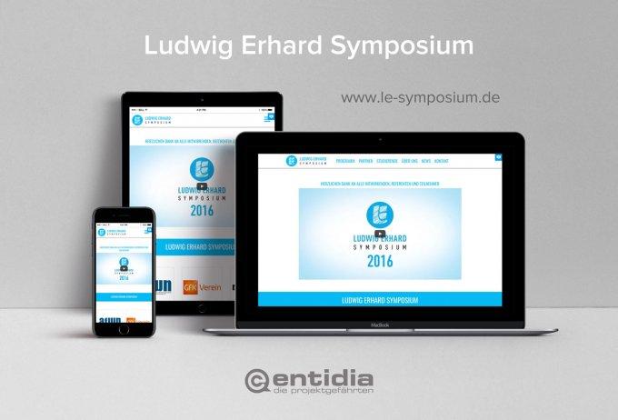 Ludwig Erhard Symposium - Ticketsystem, Eventmanagement, Website, Marketing
