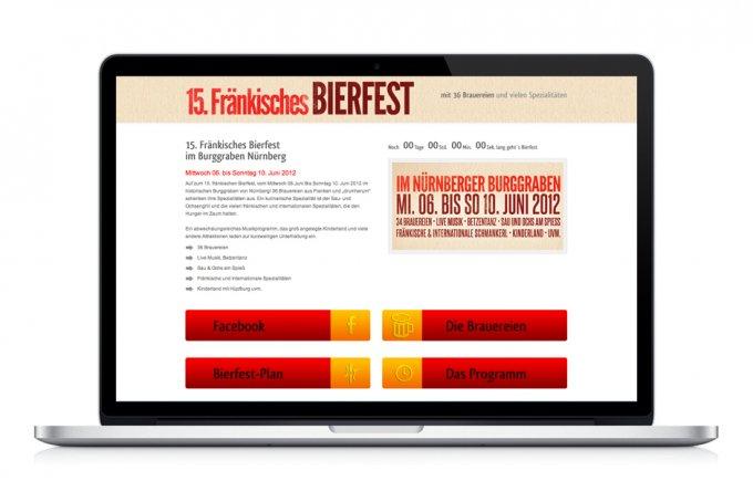 Bierfest, Nürnberg - Komplette Umsetzung des Aussenauftritts