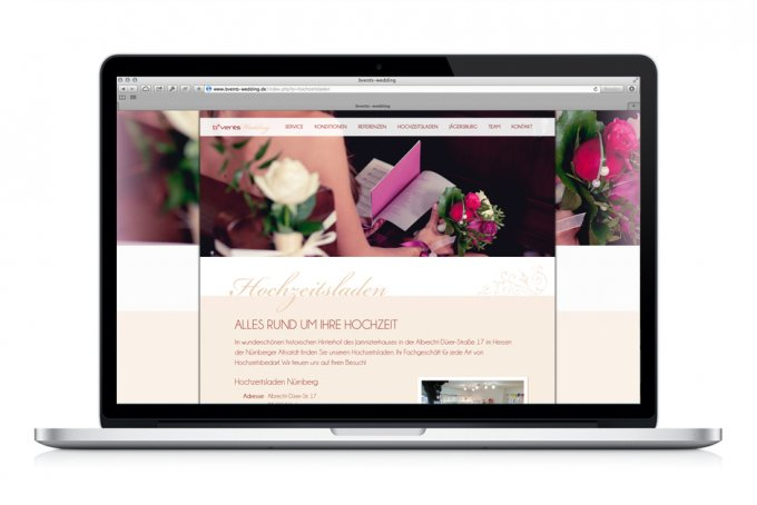 B*Vents Wedding - Webdesign & Umsetzung