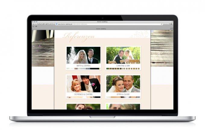 B*Vents Wedding - Webdesign & Umsetzung