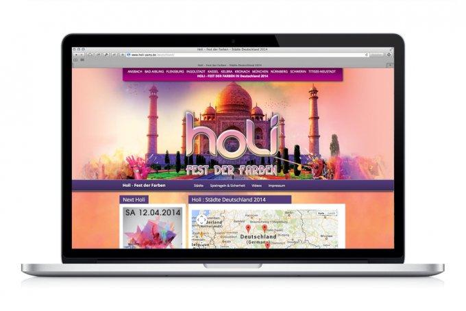 Holi - Fest der Farben - Webdesign & Umsetzung mit CMS