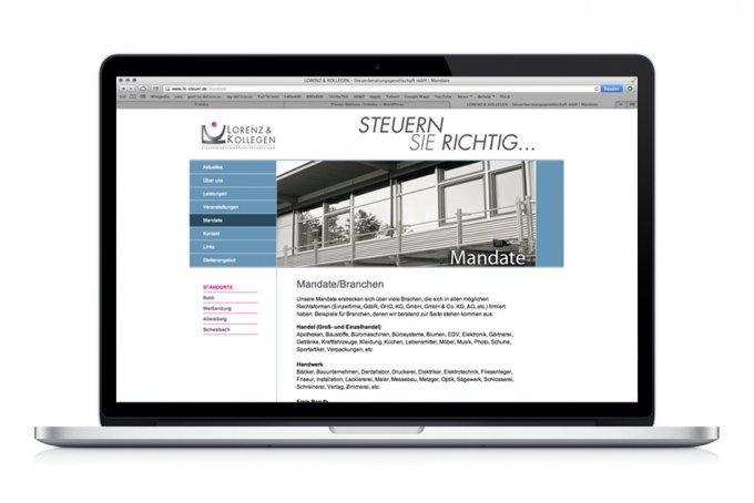 Lorenz & Kollegen, Roth - Webdesign und Umsetzung mit CMS-System