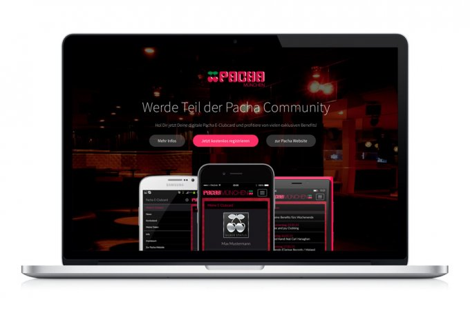Pacha München - E-Clubcard System