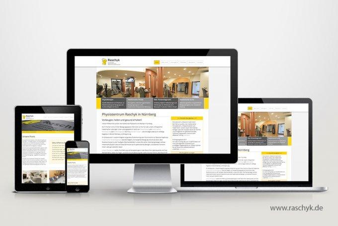 Raschyk Physio - Responsive Webdesign & CMS