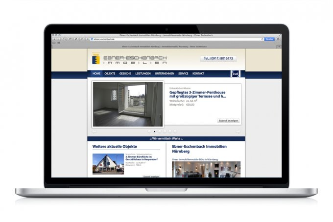 Ebner Eschenbach Immobilien - Webdesign & Website Relaunch.