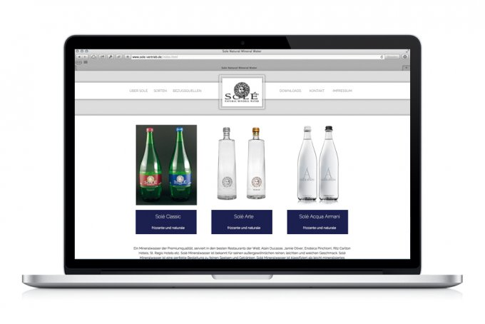 Sole Natural Mineral Water - Webdesign & Umsetzung