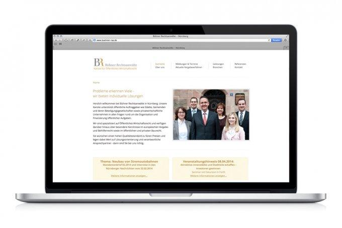 Bühner Rechtsanwälte - Webdesign & Umsetzung
